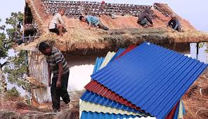 फुसकाे छाना हटाएर लहानमा १ सय १६ घर पक्की बनाइने