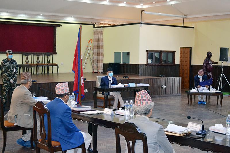राष्ट्रिय विकास परिषद बैठक बालुवाटारमा शुरु
