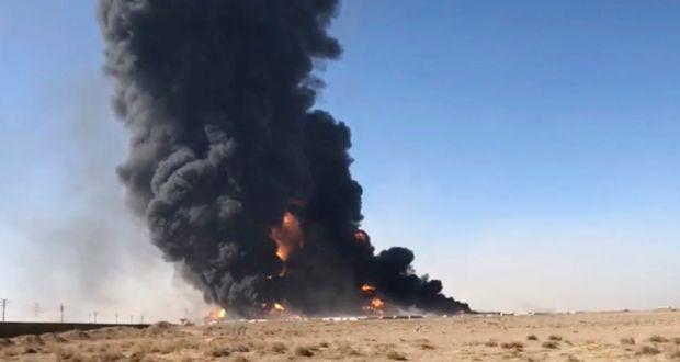 अफगानिस्तान–इरान सीमामा १ सय बढी तेल ट्याँकरमा आगलागी