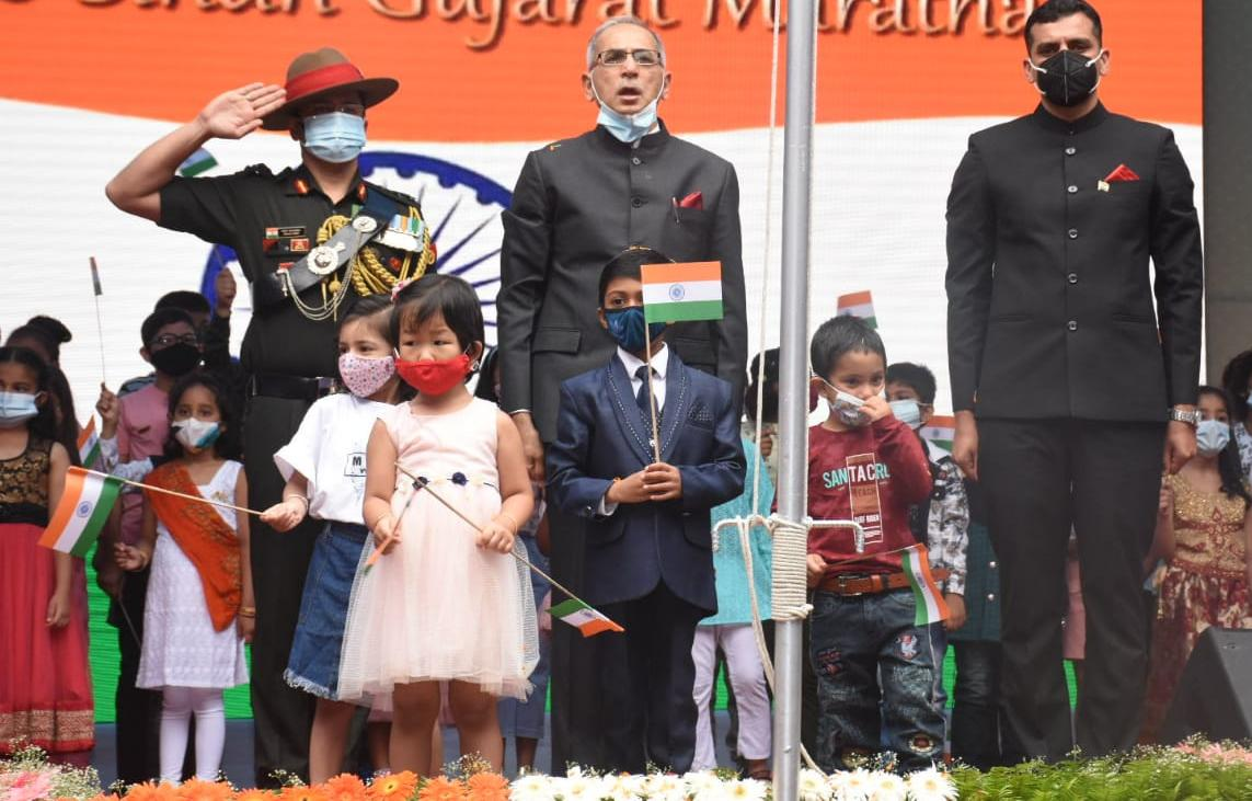 भारतको ७५औं स्वतन्त्रता दिवस भव्यरुपमा सम्पनन