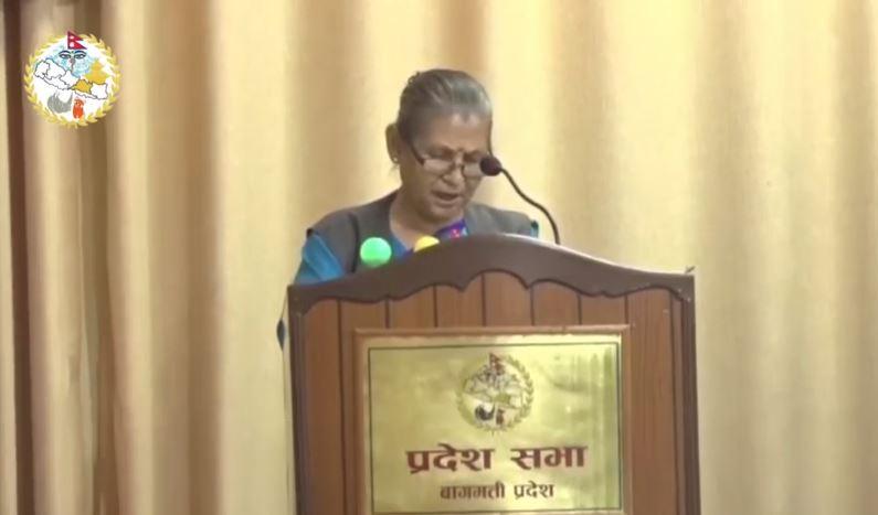मुख्यमन्त्री अष्टलक्ष्मी शाक्यले गरिन विश्वासको मतका लागि संसदमा प्रस्ताव पेस