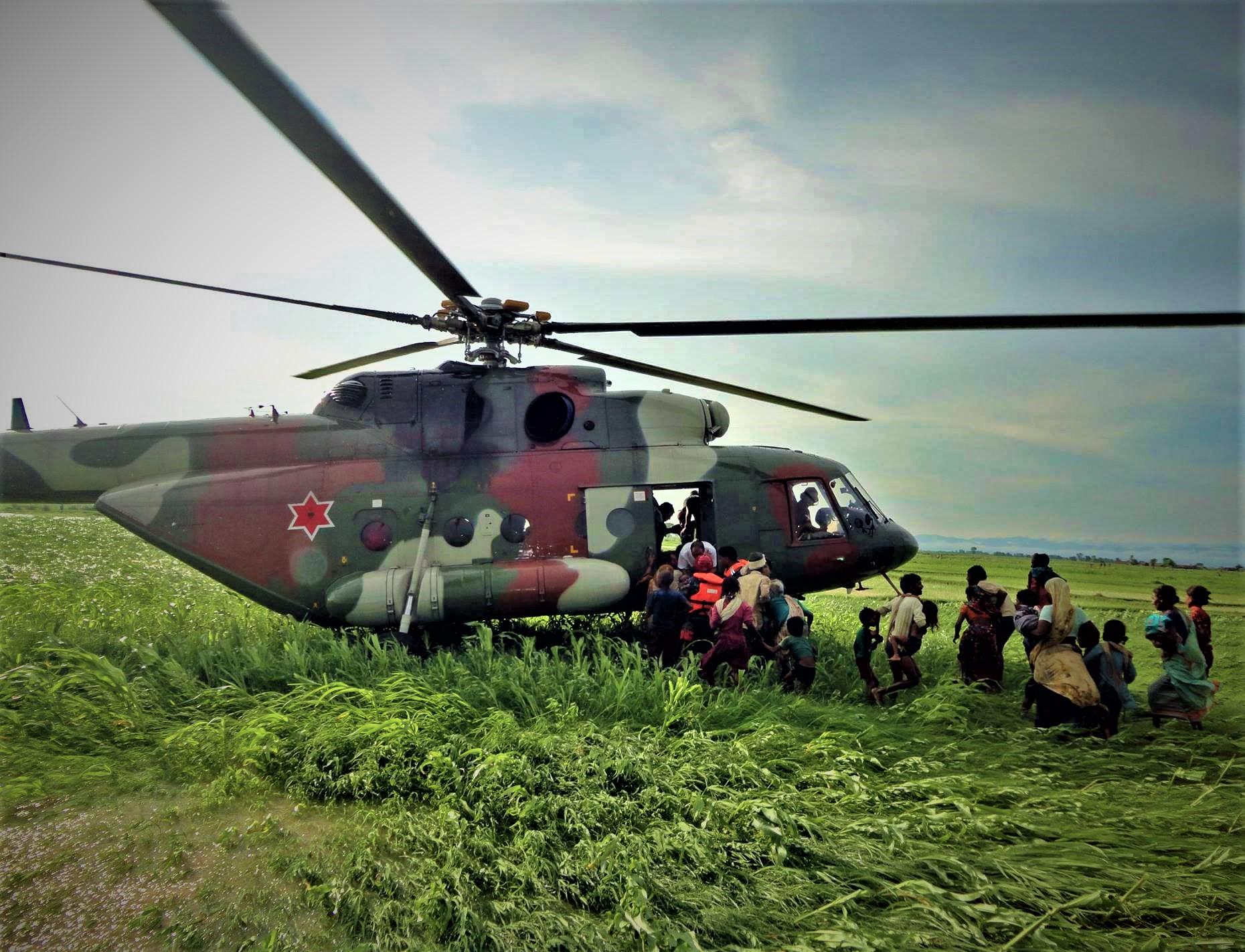 उद्दार गर्न महाकाली पुग्यो सेनाकाे हेलिकप्टर